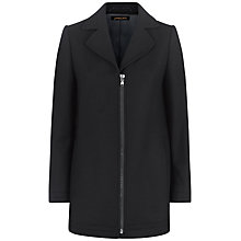 Buy Jaeger Melton Wool Coat, Black Online at johnlewis.com