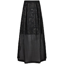 Buy Ted Baker Lybee Mesh Layered Maxi Skirt, Black Online at johnlewis.com