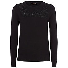 Buy Jaeger Baroque Vine Beaded Jumper, Black Online at johnlewis.com