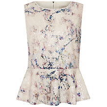 Buy Celuu Felicity Peplum Sequin Top, Ivory Online at johnlewis.com
