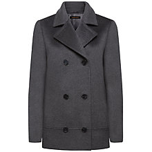 Buy Jaeger Longline Wool Pea Coat Online at johnlewis.com