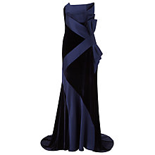 Buy Jacques Vert Velvet Bustier Maxi Dress With Shawl, Black/Blue Online at johnlewis.com