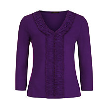 Buy Precis Petite Ruffle Top, Purple Online at johnlewis.com