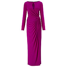 Buy Jacques Vert Draped Jersey Maxi Dress, Pink Online at johnlewis.com