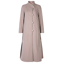 Buy Jacques Vert Stitch Detail Asymmetric Collar Coat, Mid Neutral Online at johnlewis.com