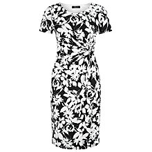 Buy Precis Petite Regatta Floral Print Dress, Black/White Online at johnlewis.com