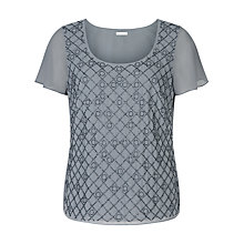 Buy Jacques Vert Circles Embellished Blouse, Dark Grey Online at johnlewis.com