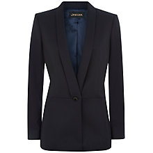 Buy Jaeger Wool Flannel Tailored Jacket, Midnight Online at johnlewis.com