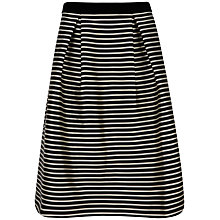 Buy Ted Baker Piery Striped Full Skirt, Black Online at johnlewis.com