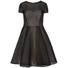 Buy Ted Baker Carniva Burnout Stripe Dress, Black Online at johnlewis.com