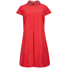 Buy Ted Baker Enid Embellished Collar Tunic Dress, Brick Red Online at johnlewis.com
