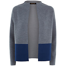 Buy Jaeger Double Faced Merino Wool Jacket, Charcoal/Blue Online at johnlewis.com