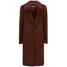 Buy Jaeger Alpaca Wool Tailored Coat, Deep Conker Online at johnlewis.com