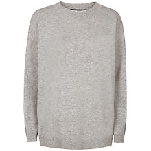 Buy Jaeger Slouchy Wool Sweatshirt, Light Grey Melange Online at johnlewis.com