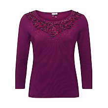 Buy Jacques Vert Cornelli Sparkle Jumper, Raspberry Online at johnlewis.com