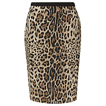 Buy Precis Petite Animal Print Skirt, Multi Brown Online at johnlewis.com
