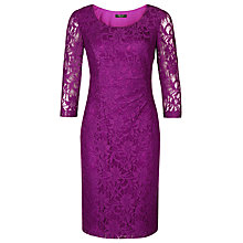 Buy Precis Petite Scoop Neck Lace Dress, Fuchsia Online at johnlewis.com
