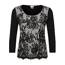 Buy Jacques Vert Lace & Bead Front Jumper, Multi Black Online at johnlewis.com