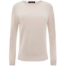 Buy Jaeger Cashmere Metallic Jumper, Pale Gold Online at johnlewis.com