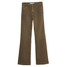Buy Mango Button Flare Trousers Online at johnlewis.com
