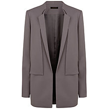 Buy Jaeger Folded Overlay Blazer, Warm Grey Online at johnlewis.com