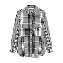 Buy Mango Check Cotton Shirt, Black Online at johnlewis.com