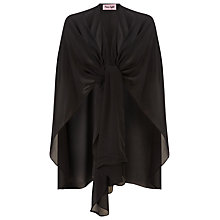 Buy Phase Eight Eniko Chiffon Cape, Black Online at johnlewis.com