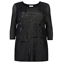 Buy Windsmoor Sequin Mesh Tunic, Black Online at johnlewis.com