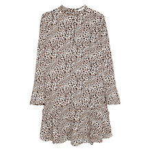 Buy Mango Leopard Print Dress, Black Online at johnlewis.com