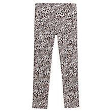 Buy Mango Leopard Cotton Trousers, Black Online at johnlewis.com