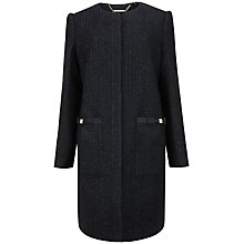 Buy Ted Baker Trixhi Boucle Bow Pocket Coat, Navy Online at johnlewis.com