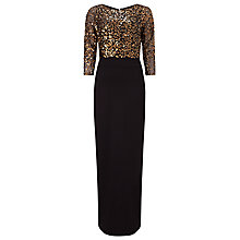 Buy Phase Eight Collection 8 Alyona Sequin Maxi Dress, Black/Gold Online at johnlewis.com