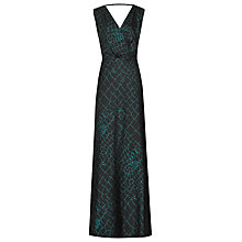 Buy Reiss Bebe Printed Maxi Dress, Deep Green Online at johnlewis.com