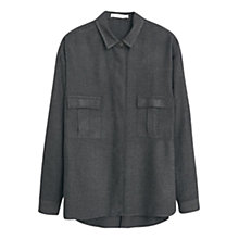 Buy Mango Patch Pocket Shirt, Charcoal Online at johnlewis.com