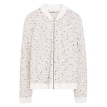 Buy Mango Speckled Bomber Jacket, Light Beige Online at johnlewis.com