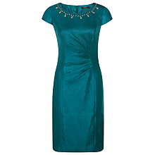 Buy Precis Petite Embellished Dress, Teal Online at johnlewis.com