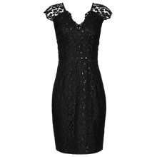 Buy Reiss Mayra Leopard Lace Dress, Black Online at johnlewis.com