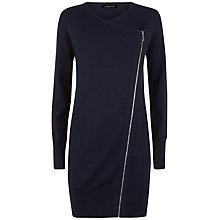 Buy Jaeger Wool Cashmere Blend Zip Cardigan, Navy Online at johnlewis.com
