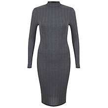 Buy Miss Selfridge Ribbed Midi Dress Online at johnlewis.com