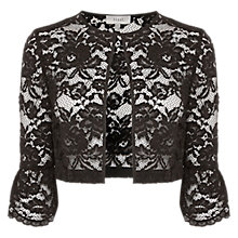Buy Coast Matara Lace Jacket, Black Online at johnlewis.com