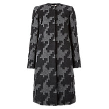 Buy Hobbs Pembroke Coat, Black/Grey Online at johnlewis.com
