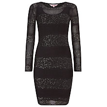 Buy Phase Eight Abril Stripe Sequin Panel Dress, Black Online at johnlewis.com