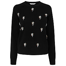 Buy L.K. Bennett Merino Wool Meryl Embellished Jumper, Black Online at johnlewis.com