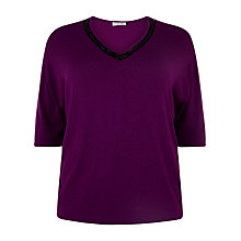 Buy Windsmoor Embellished Sweater, Fuchsia Online at johnlewis.com