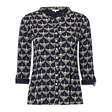 Buy White Stuff Flying Geese Jersey Shirt, Pottery Blue Online at johnlewis.com