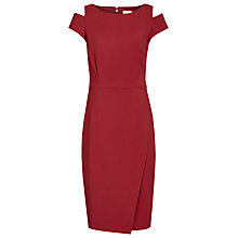 Buy Reiss Mattia Sleeve Detail Dress, Crimson Online at johnlewis.com