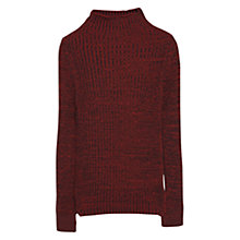 Buy Mango Ribbed Jumper, Dark Brown Online at johnlewis.com