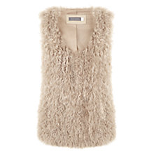 Buy Mint Velvet Shearling Gilet, Camel Online at johnlewis.com