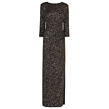 Buy L.K. Bennett Quinny Maxi Dress, Gold Online at johnlewis.com