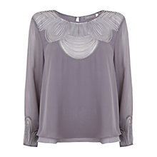 Buy Mint Velvet Smoke Cord Detail Top, Grey Online at johnlewis.com